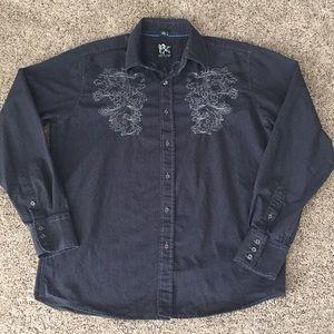 PX Cuslom Rags Men's Dress Shirt Size M